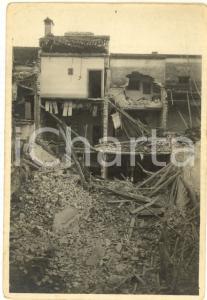 1916 WW1 ZONA DI GUERRA Veduta di una palazzina distrutta *Foto 9x13 cm