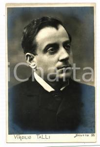 1910 ca TEATRO Virgilio TALLI Ritratto dell'attore *Cartolina SCIUTTO FP NV