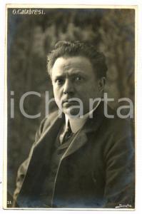 1910 ca TEATRO Osvaldo CALABRESI Ritratto dell'attore *Cartolina FP NV