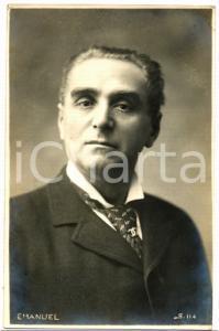 1910 ca TEATRO Giovanni EMANUEL Ritratto dell'attore *Cartolina FP NV