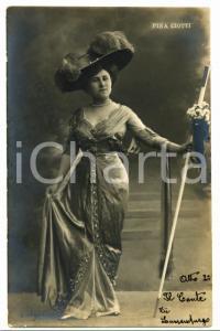 1910 ca OPERETTA Pina CIOTTI nel primo atto de IL CONTE DI LUSSEMBURGO Cartolina
