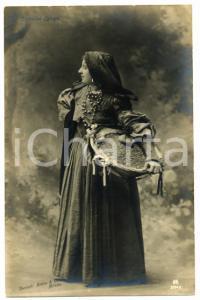 1910 ca OPERETTA Egloge SERVOLINI indossa costume da contadina *Cartolina FP NV