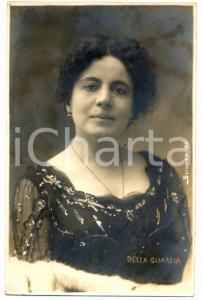 1910 ca TEATRO Ritratto di Clara DELLA GUARDIA *Cartolina SCIUTTO FP NV