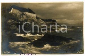 1900 ca GENOVA - NERVI Panorama della costa *Cartolina SCIUTTO FP VG