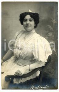 1910 ca TEATRO Ritratto dell'attrice Roma FRISCUOLO *Cartolina FP NV