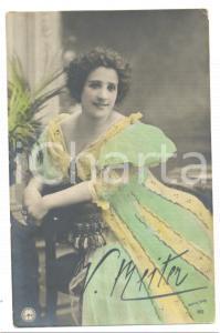 1900 ca TEATRO Ritratto dell'attrice Virginia REITER *Cartolina FP NV