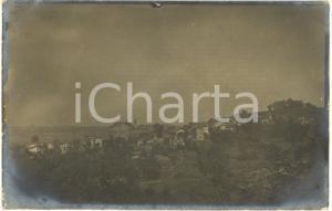 1909 AREA DI ALESSANDRIA Veduta panoramica di un paese - Foto cartolina