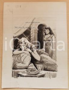 1955 ca BOZZETTO ORIGINALE Concubine sognano fuga dall'harem *Illustrazione CESI