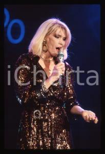 35mm vintage slide* 1988 RAI 2 Amanda LEAR al programma Tv IMPROVVISANDO (4)