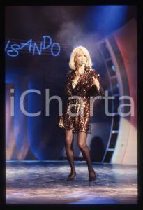 35mm vintage slide* 1988 RAI 2 Amanda LEAR al programma Tv IMPROVVISANDO (9)