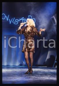 35mm vintage slide* 1988 RAI 2 Amanda LEAR nel programma Tv IMPROVVISANDO (14)