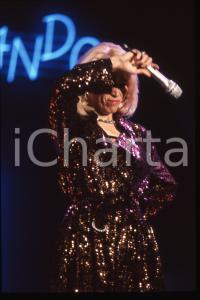 35mm vintage slide* 1988 RAI 2 Amanda LEAR nel programma Tv IMPROVVISANDO (16)