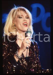 35mm vintage slide* 1988 RAI 2 Amanda LEAR nel programma Tv IMPROVVISANDO (20)