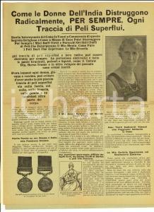 1930 Ditta Frederica HUDSON Distruttore HINDOO peli superflui donne *Pubblicità