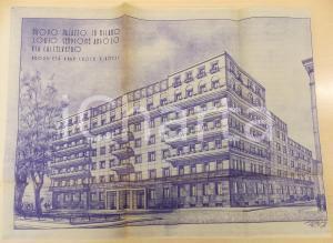 1945 ca MILANO Corso SEMPIONE Palazzo cav. Emilio POZZI - Rendering 60x40 cm