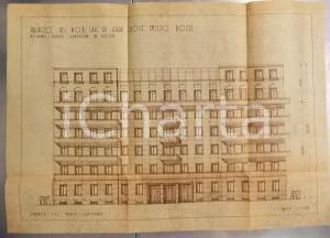 1945 ca MILANO Corso SEMPIONE Palazzo cav. Emilio POZZI - Rendering 45x60 cm