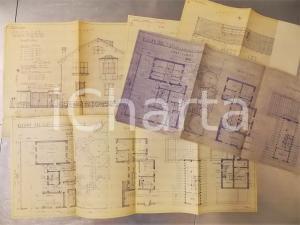 1950 MILANO Via CECCHI 9 - Villino Soc. C.A.T.I. Progetto  - Lotto planimetrie