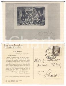 1931 CASTAGNETO CARDUCCI Cartolina Giosuè Carducci ritratto - Gian Ugo BOSCAGLIA