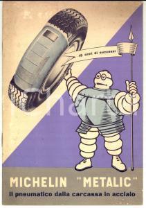 1950 ca MICHELIN Pneumatico METALIC carcassa in acciaio *Libretto pubblicitario