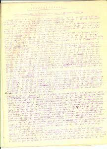 1930 ca MEDICINA Roberto RUSSITANO Elettrogenesi *Dattiloscritto INEDITO 7 pp.