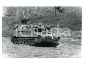 1990 ca ESERCITO ITALIANO Semovente d'artiglieria M109 - Esercitazione militare