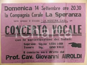1950 ca CINISELLO BALSAMO (?) Circolo La nostra casa - Concerto Coro LA SPERANZA
