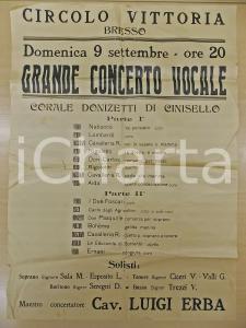 1950 ca BRESSO Circolo Vittoria - Concerto Corale Donizetti di Cinisello Balsamo