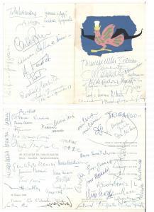 1968 VENEZIA Inaugurazione GALLERIA NAVIGLIO - Menù con AUTOGRAFI ARTISTI