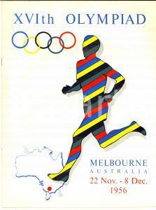 1956 MELBOURNE (AUSTRALIA) XVIth Olympiad - Illustrated vintage brochure 16 pp.