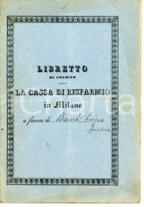 1916 MILANO Cassa di Risparmio delle Provincie Lombarde - Libretto di credito