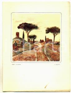 1957 ITALIA NAVIGAZIONE M/n GIULIO CESARE Menù pranzo *Ill. Alberto SALIETTI