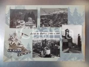 1960 ca QUARNA SOTTO (VB) Panorama invernale *Bozzetto per cartolina 43x30 cm