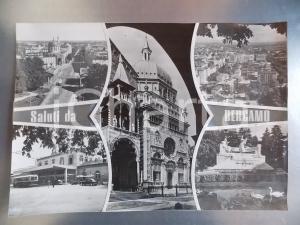 1960 ca BERGAMO Piazzale della stazione *Bozzetto per cartolina 40x30 cm