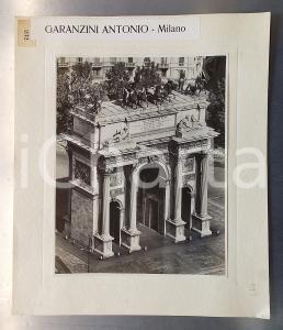 1960 ca MILANO Arco della Pace - Gigantografia Antonio GARANZINI 30x40 cm