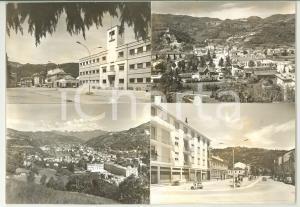 1960 ca CHIAMPO (VI) Passaggio del treno in stazione *Bozzetto cartolina 30x21