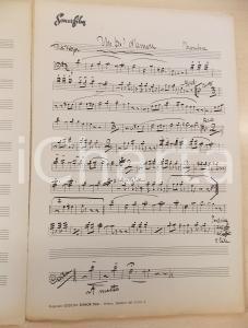 1938 Mario MARIOTTI Un po' d'amore - Spartito manoscritto AUTOGRAFO 18 pp.
