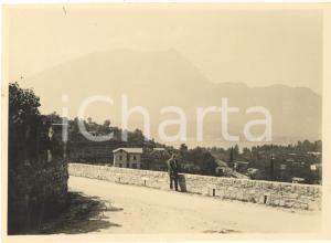 1925 Area di BELLAGIO- Passeggiata in collina sul Lago di Como - Foto 12x8 cm