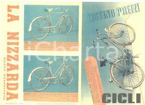 1941 GENOVA Biciclette LA NIZZARDA - Listino prezzi ILLUSTRATO VINTAGE