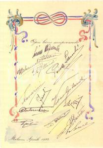 1922 MILANO Biglietto di auguri per Piero Della Noce - ACQUERELLATO a mano
