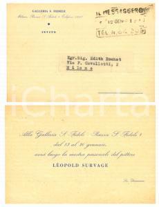 1950 ca MILANO Galleria S. FEDELE - Invito mostra pittore Léopold SURVAGE