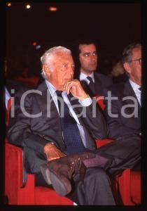 35mm vintage slide* 1995ca Ritratto di Gianni AGNELLI durante congresso (1)