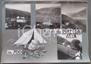 1960 ca PIATEDA ALTA Chiesa di Sant'Antonio Abate *Bozzetto per cartolina 50x38
