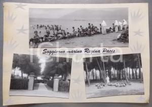 1965ca MARINA DI CARRARA Soggiorno marino Regina Pacis *Bozzetto cartolina 37x26