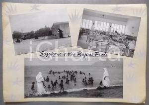 1965ca MARINA DI CARRARA Soggiorno marino REGINA PACIS Bozzetto cartolina 37x26