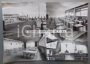 1965 ca PREGANZIOL (TV) Seminario Missionario PIME *Bozzetto per cartolina 45x37