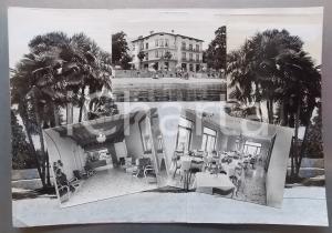 1965 ca BAVENO Vedutine con albergo *Bozzetto preparatorio per cartolina 40x28