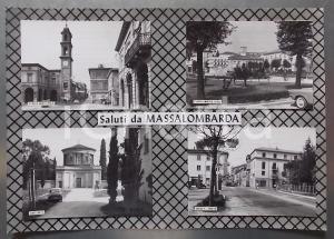 1960 ca MASSA LOMBARDA Piazza Umberto Ricci *Bozzetto per cartolina 37x26