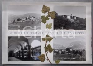 1960ca BORGO DI TERZO Antico convento benedettino *Bozzetto per cartolina 38x26