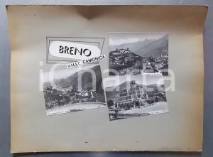 1965 ca BRENO Veduta VAL CAMONICA - Villa Gheza  *Bozzetto per cartolina 40x36