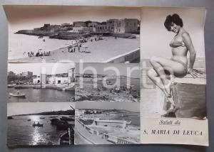 1960 ca SANTA MARIA DI LEUCA - Vedutine con Pin-Up *Bozzetto per cartolina 45x31